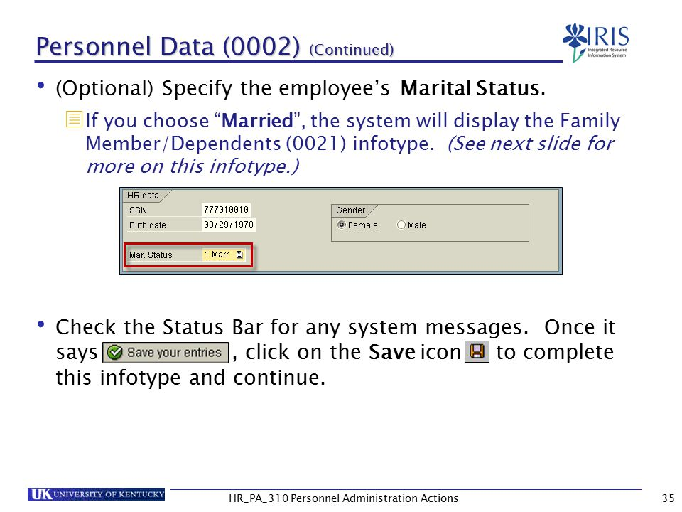 Personnel Data (0002) (Continued)