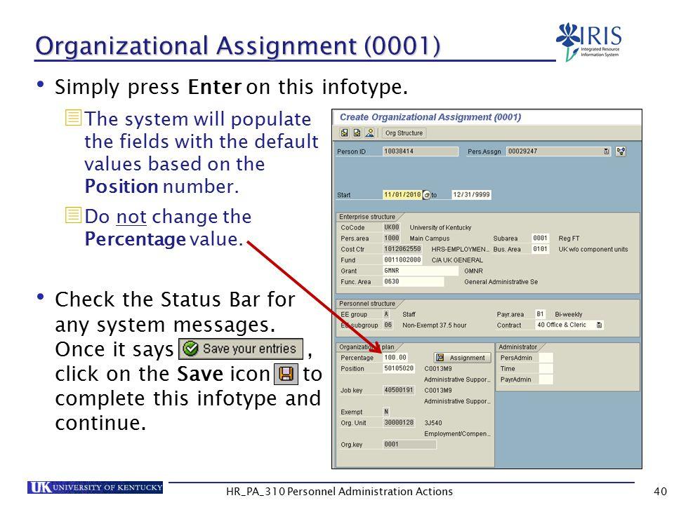 Organizational Assignment (0001)