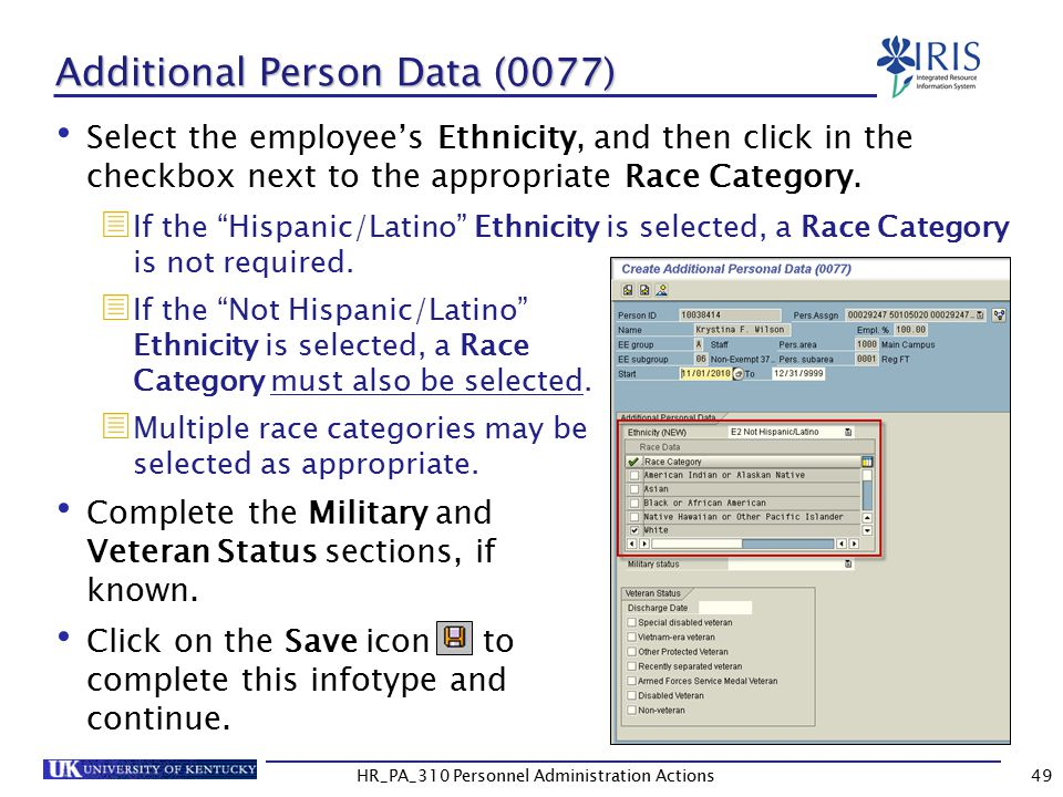 Additional Person Data (0077)
