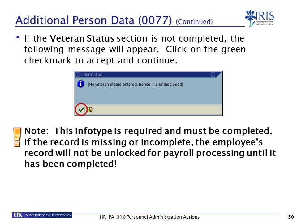 Additional Person Data (0077) (Continued)