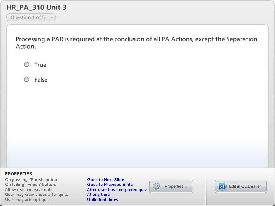 HR_PA_310 Unit 3 HR_PA_310 Personnel Admin Actions - LSO V1