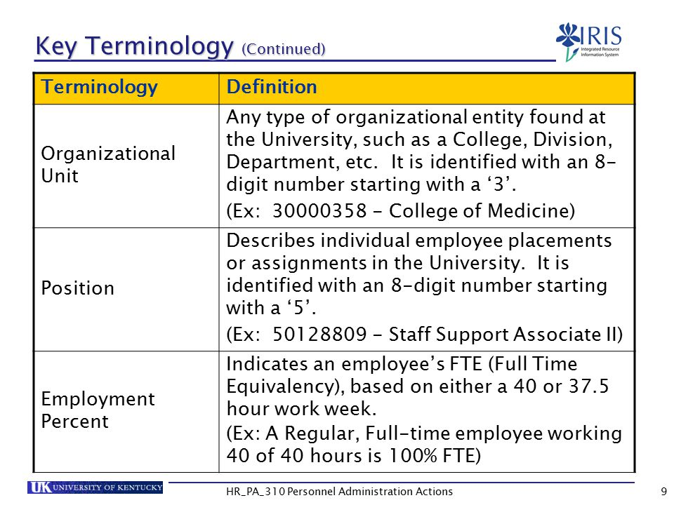 Key Terminology (Continued)