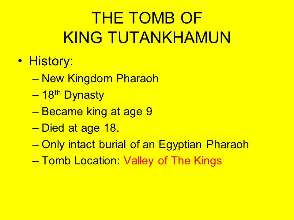 THE TOMB OF KING TUTANKHAMUN