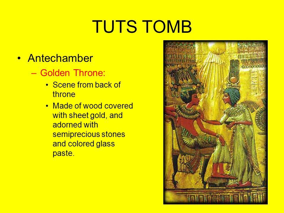 TUTS TOMB Antechamber Golden Throne: Scene from back of throne