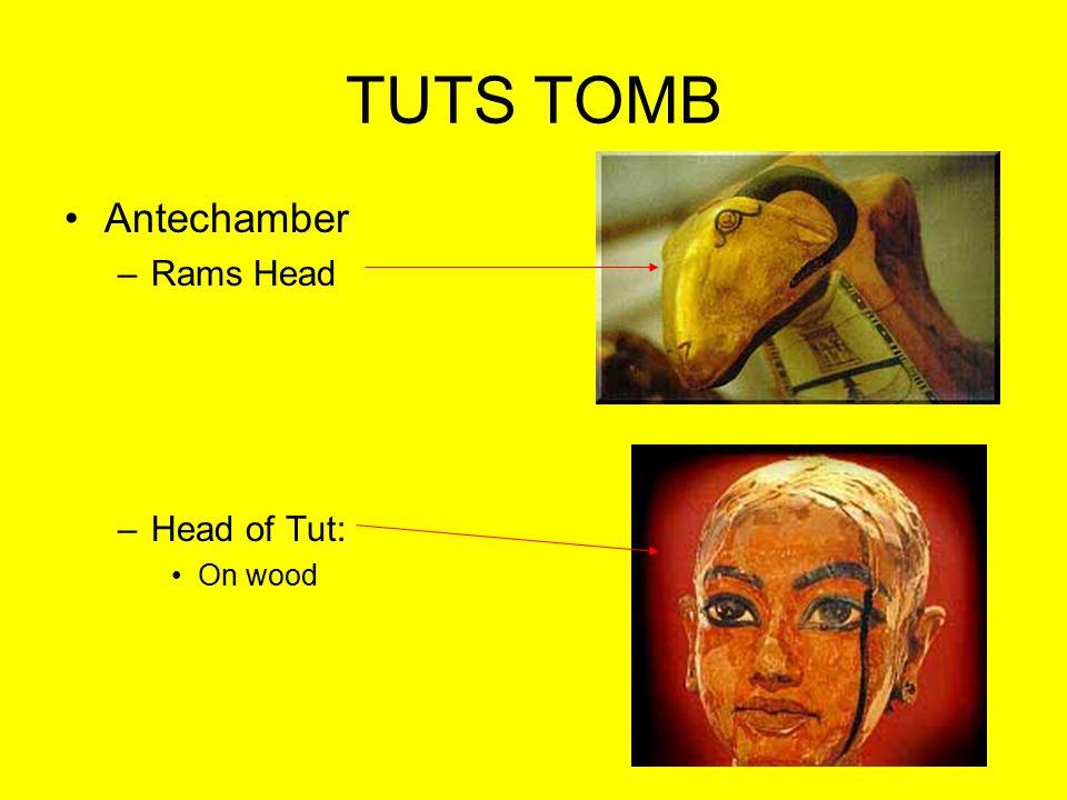 TUTS TOMB Antechamber Rams Head Head of Tut: On wood