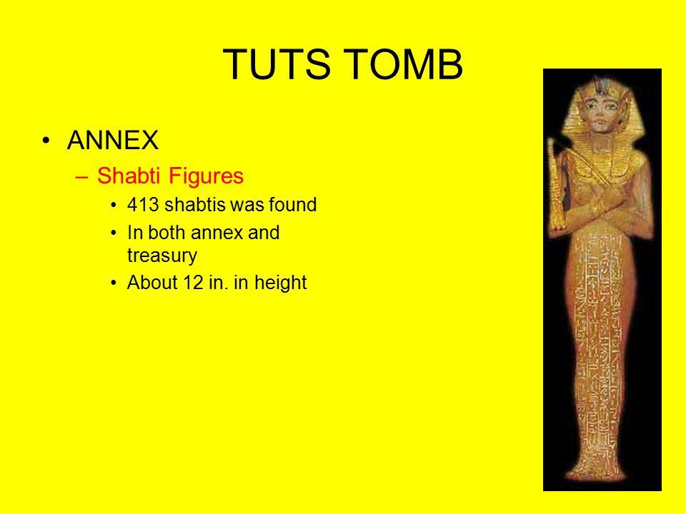 TUTS TOMB ANNEX Shabti Figures 413 shabtis was found
