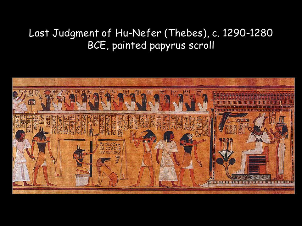 Last Judgment of Hu-Nefer (Thebes), c