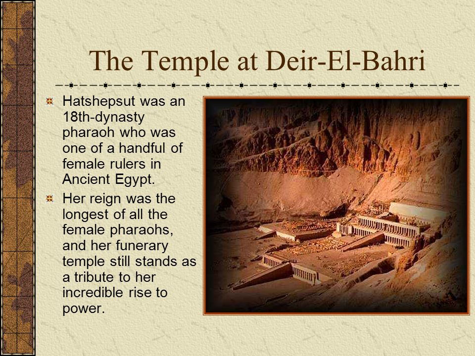 The Temple at Deir-El-Bahri