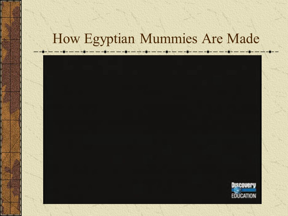 How Egyptian Mummies Are Made