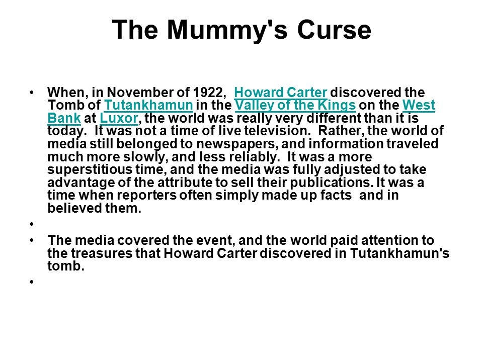 The Mummy s Curse