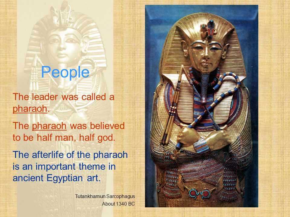 People The leader was called a pharaoh.