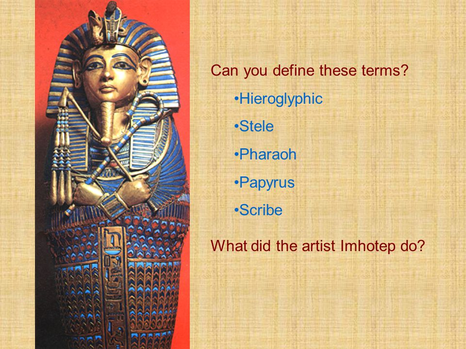 Can you define these terms