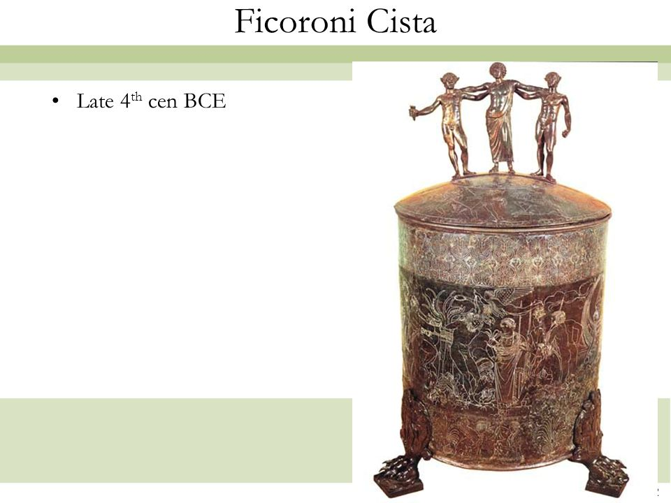 Ficoroni Cista Late 4th cen BCE