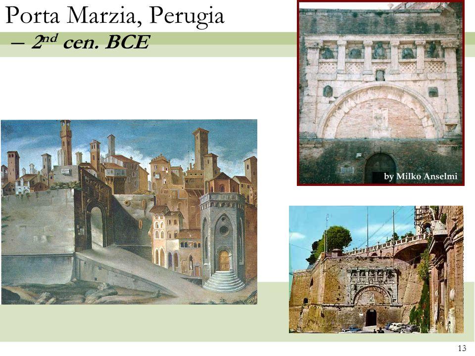 Porta Marzia, Perugia – 2nd cen. BCE