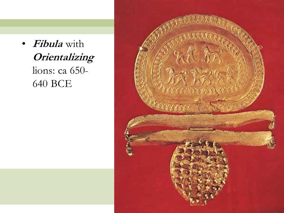 Fibula with Orientalizing lions: ca 650-640 BCE