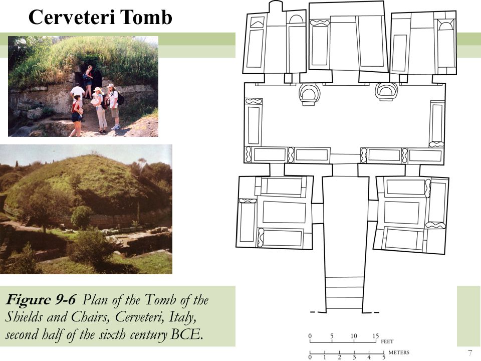 Cerveteri Tomb Figure 9-6 Plan of the Tomb of the Shields and Chairs, Cerveteri, Italy, second half of the sixth century BCE.