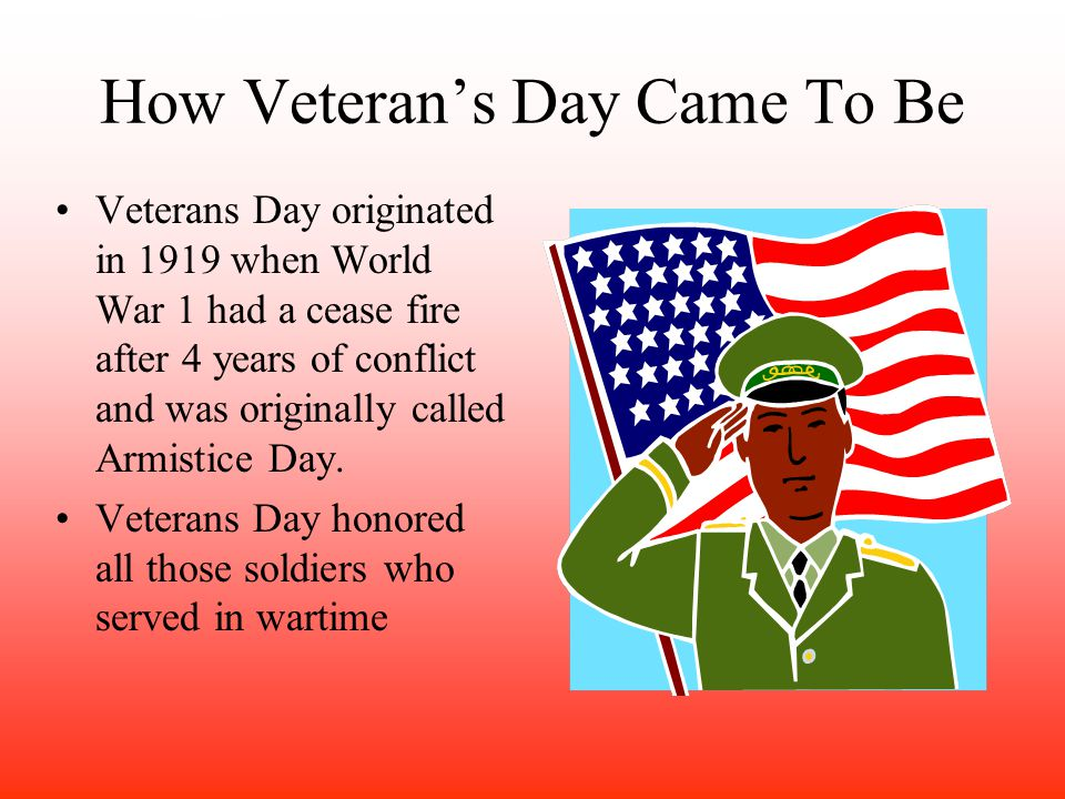 How Veteran's Day Came To Be