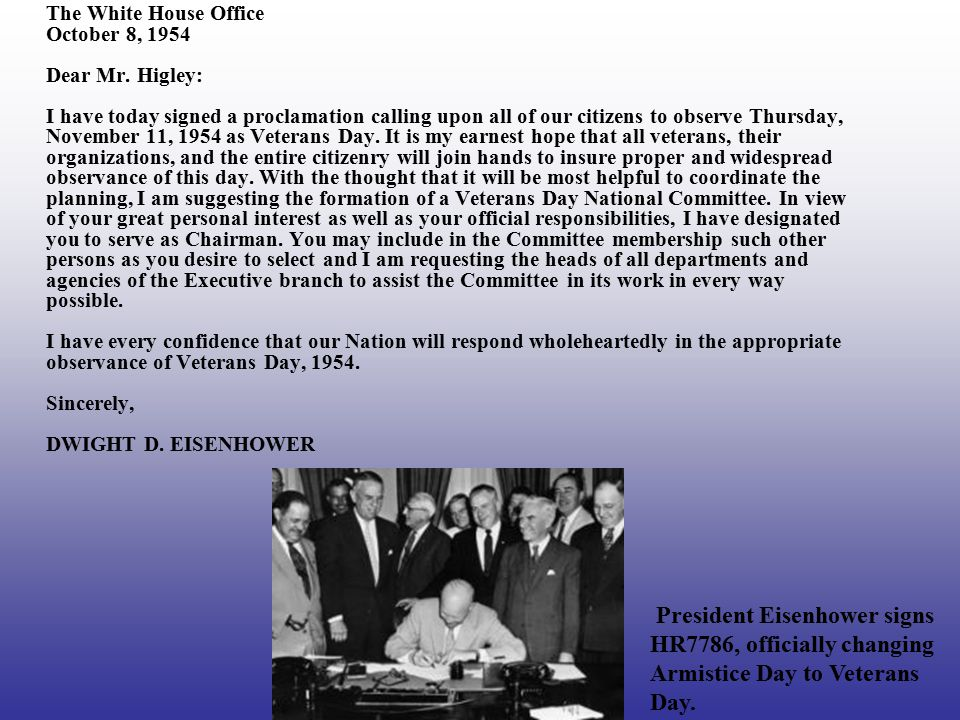 The White House Office October 8, 1954 Dear Mr