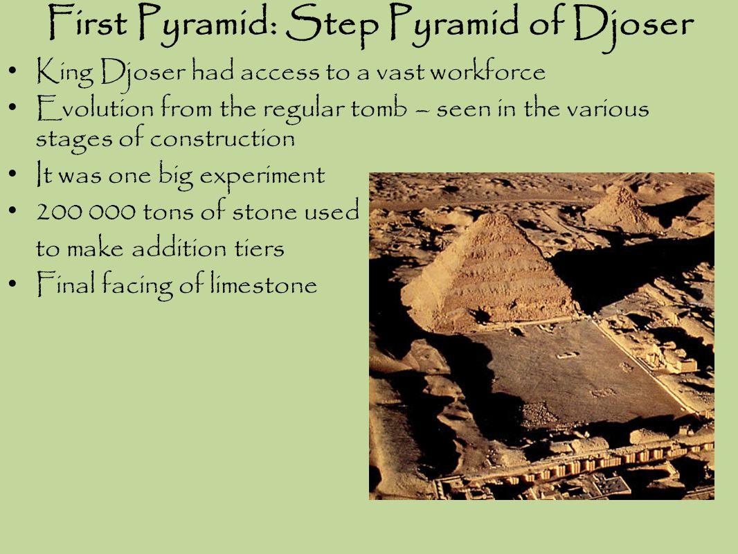 First Pyramid: Step Pyramid of Djoser