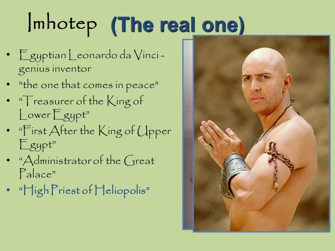 Imhotep (The real one) Egyptian Leonardo da Vinci - genius inventor