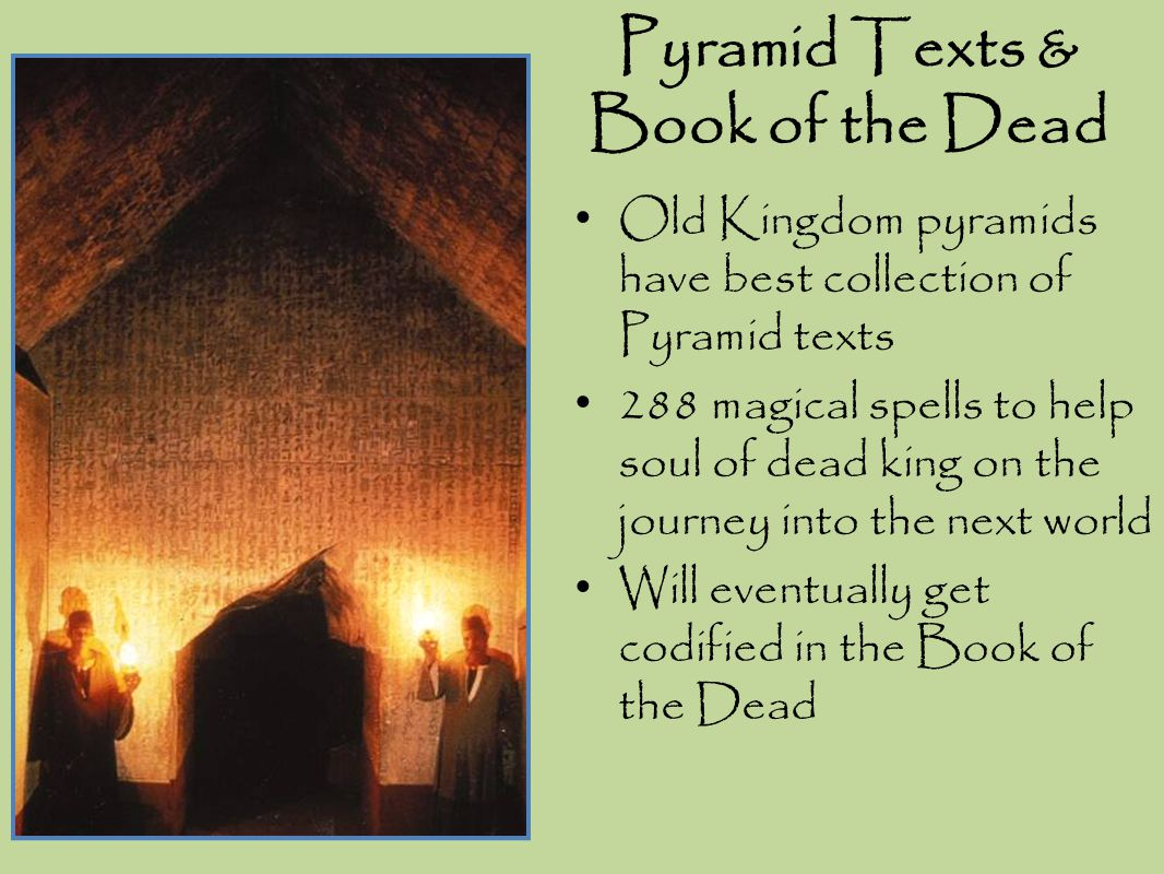 Pyramid Texts & Book of the Dead