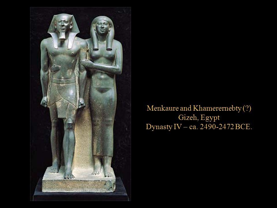 Menkaure and Khamerernebty ( )