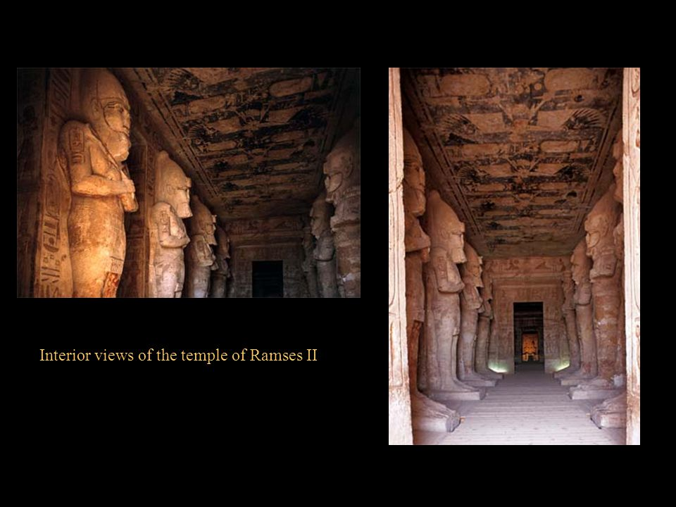 Interior views of the temple of Ramses II