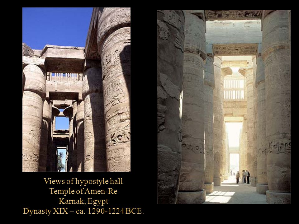 Views of hypostyle hall