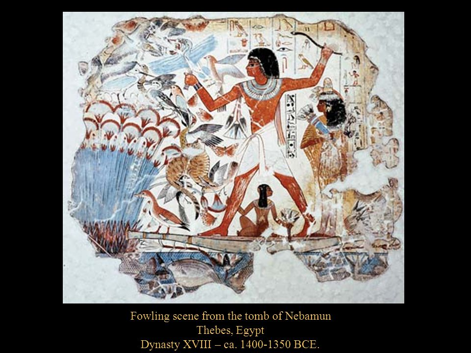 Fowling scene from the tomb of Nebamun