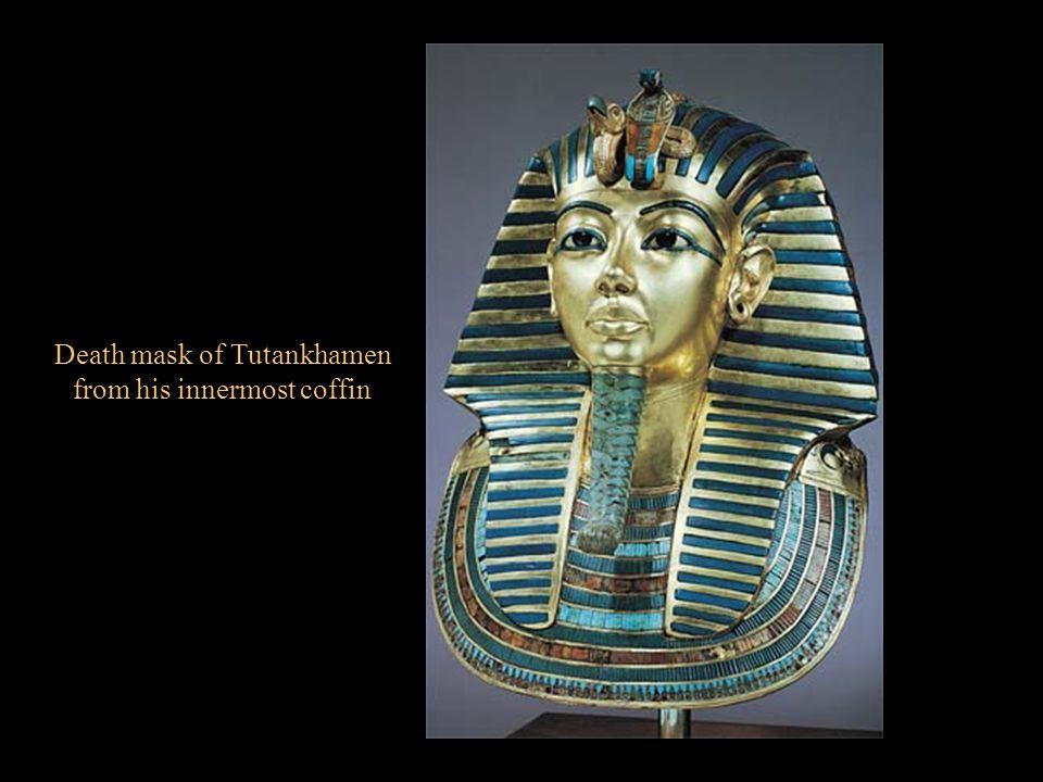 Death mask of Tutankhamen from his innermost coffin