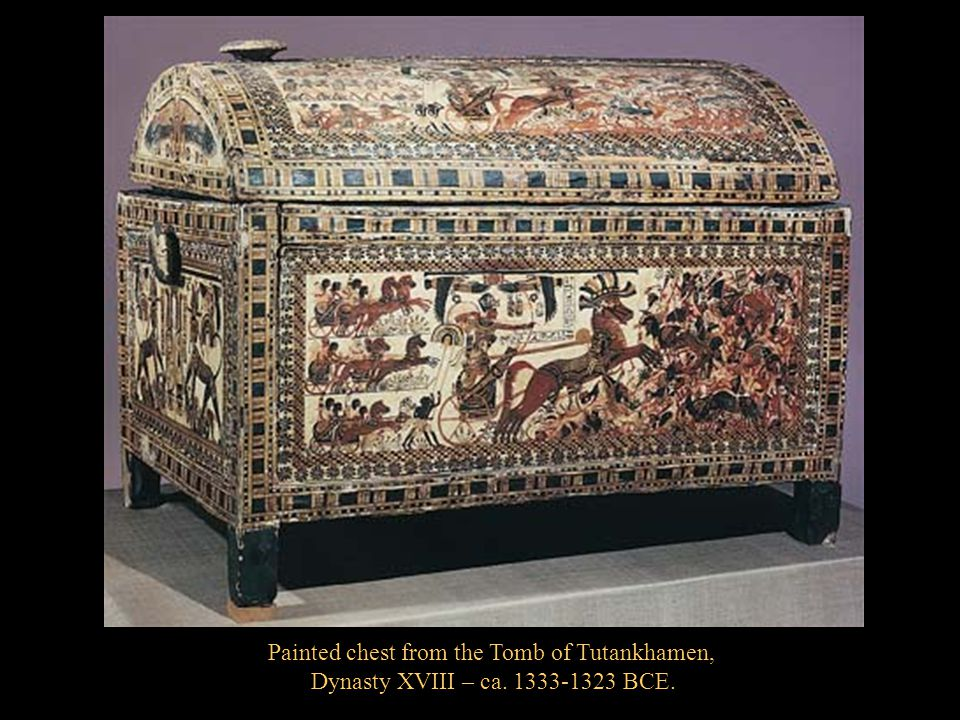 Painted chest from the Tomb of Tutankhamen,