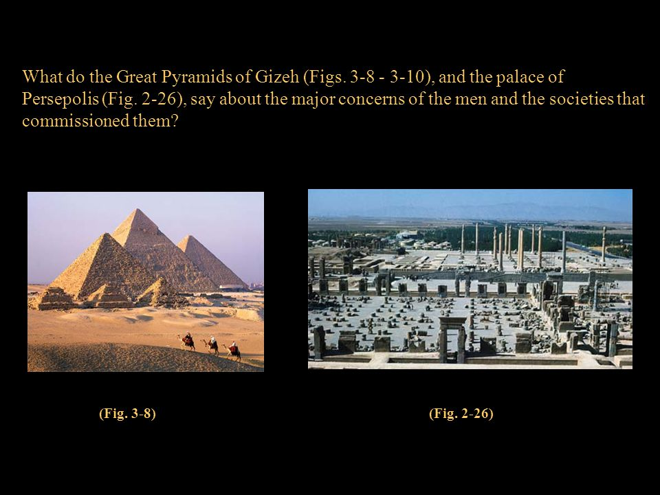 What do the Great Pyramids of Gizeh (Figs