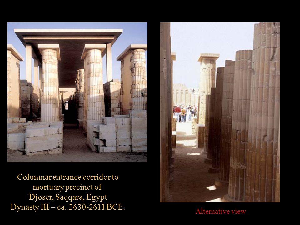 Columnar entrance corridor to