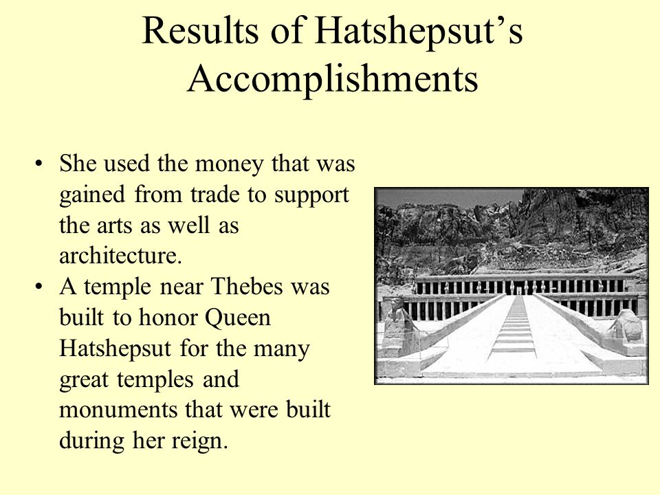 Results of Hatshepsut's Accomplishments