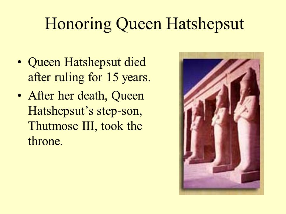 Honoring Queen Hatshepsut
