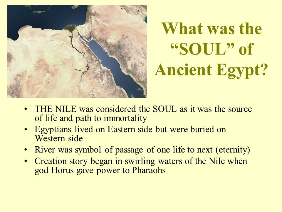 What was the SOUL of Ancient Egypt