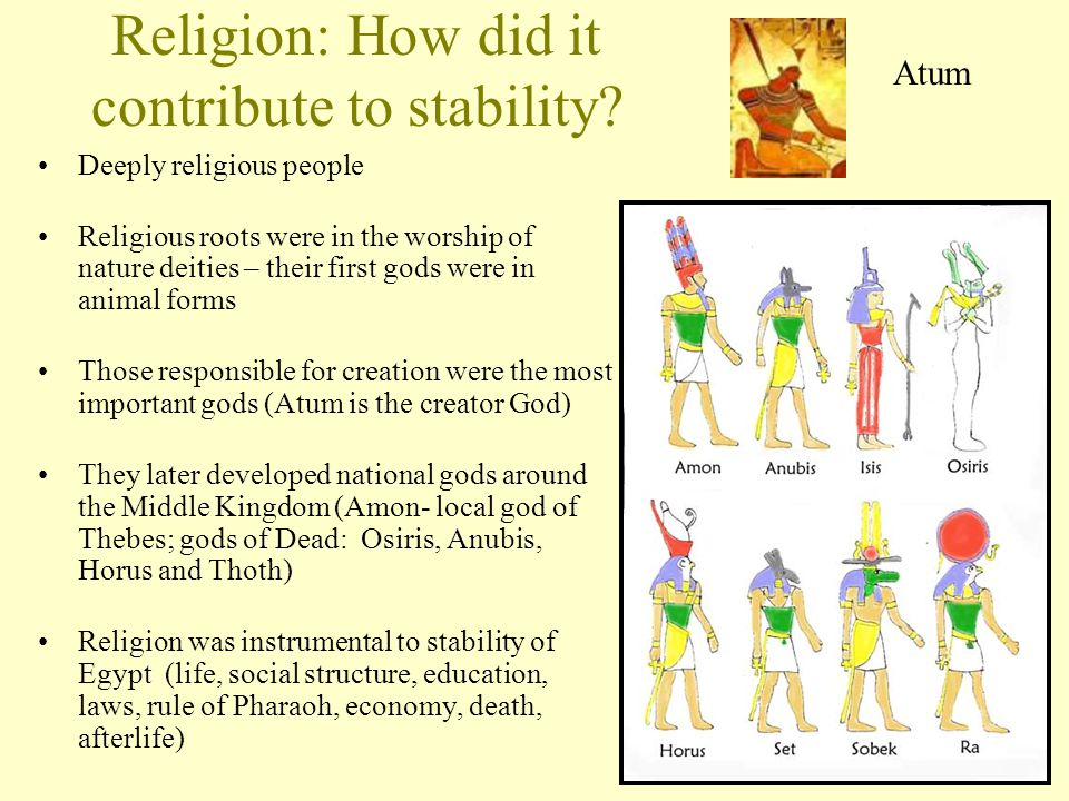 Religion: How did it contribute to stability