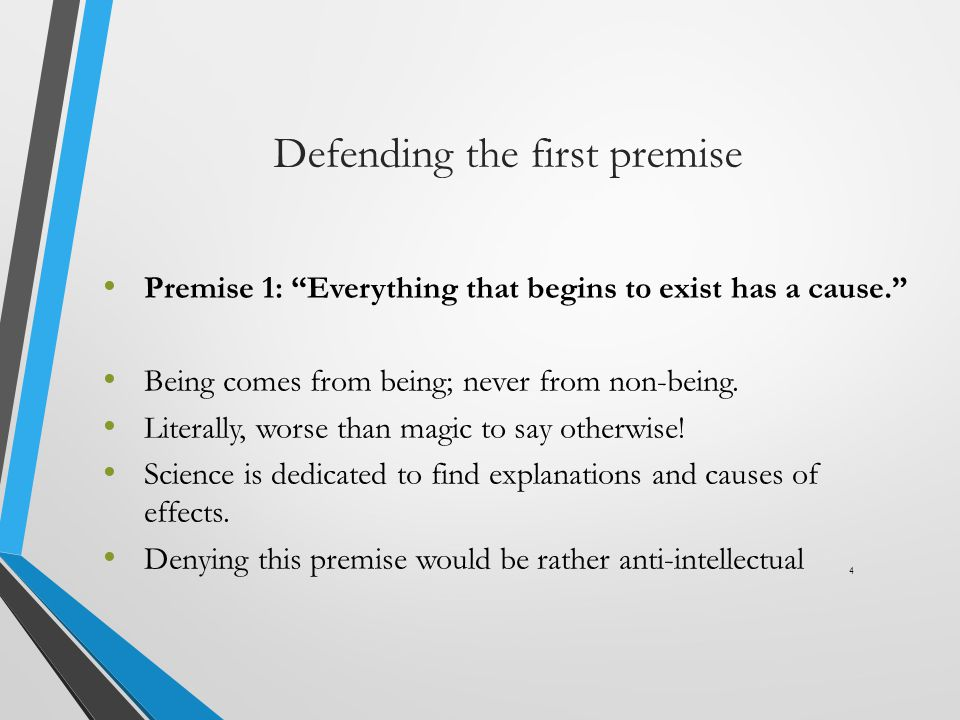 Defending the first premise