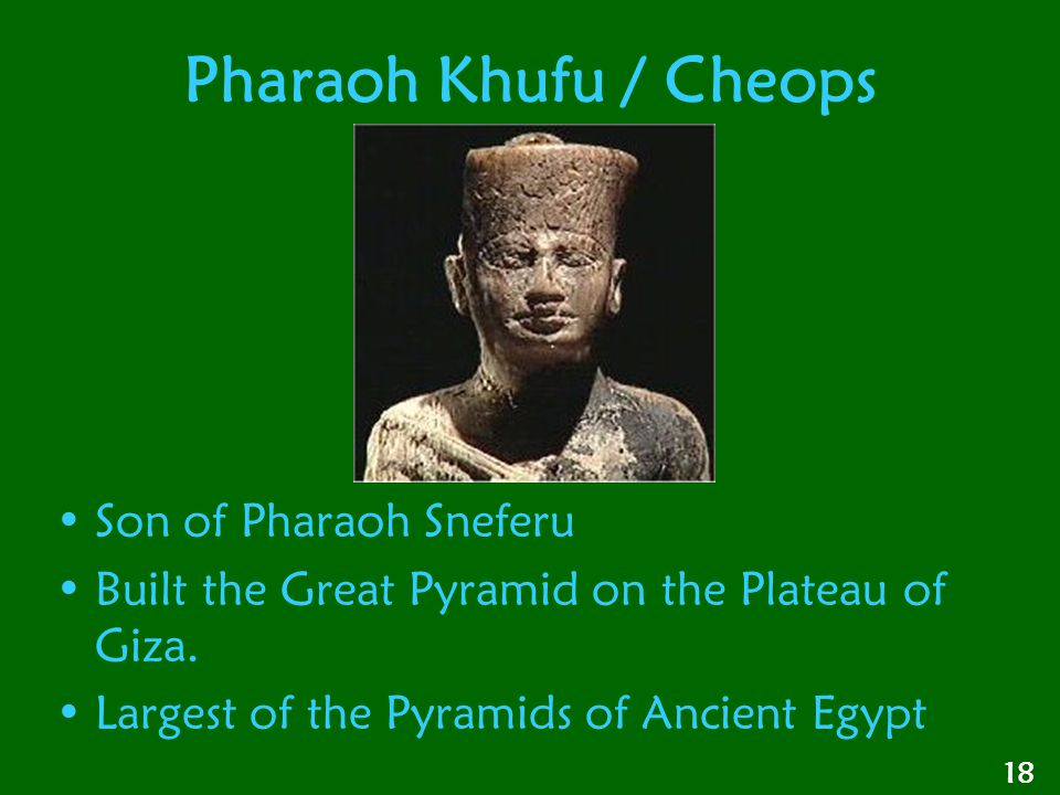 Pharaoh Khufu / Cheops Son of Pharaoh Sneferu