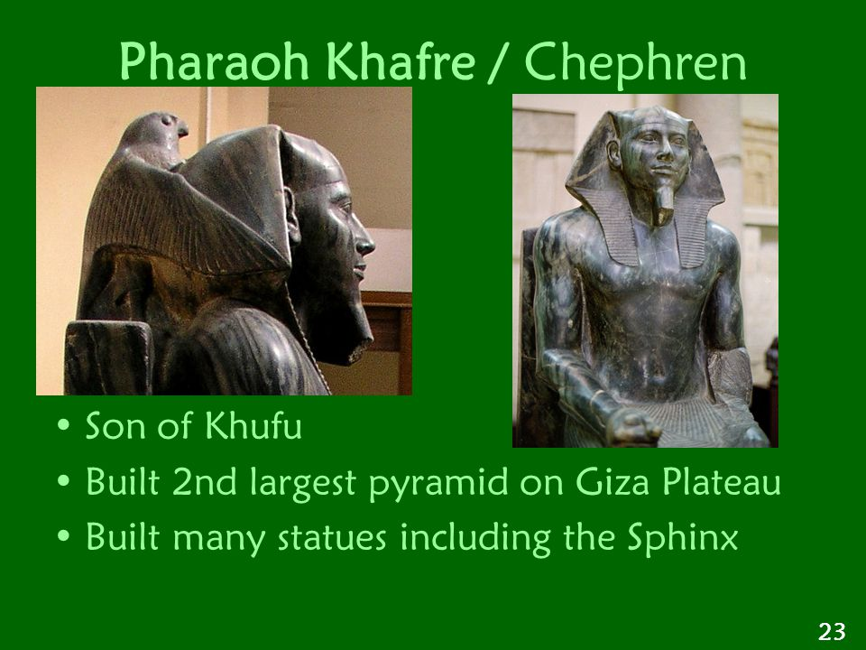 Pharaoh Khafre / Chephren