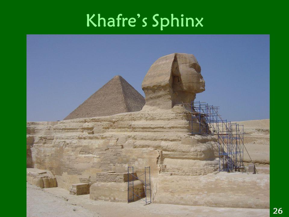Khafre's Sphinx 26