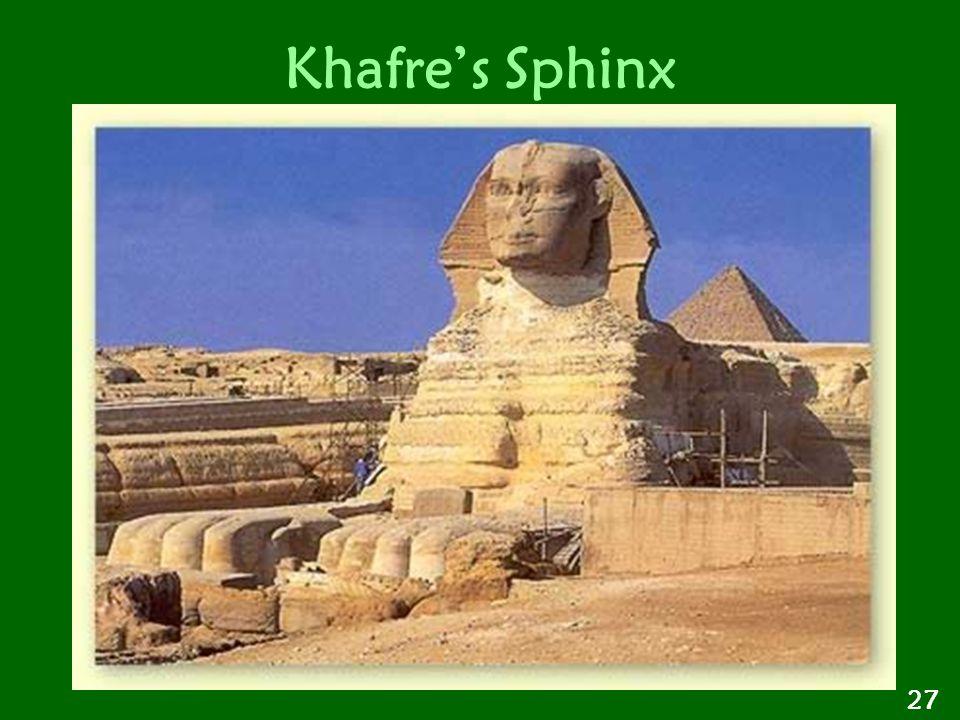 Khafre's Sphinx 27