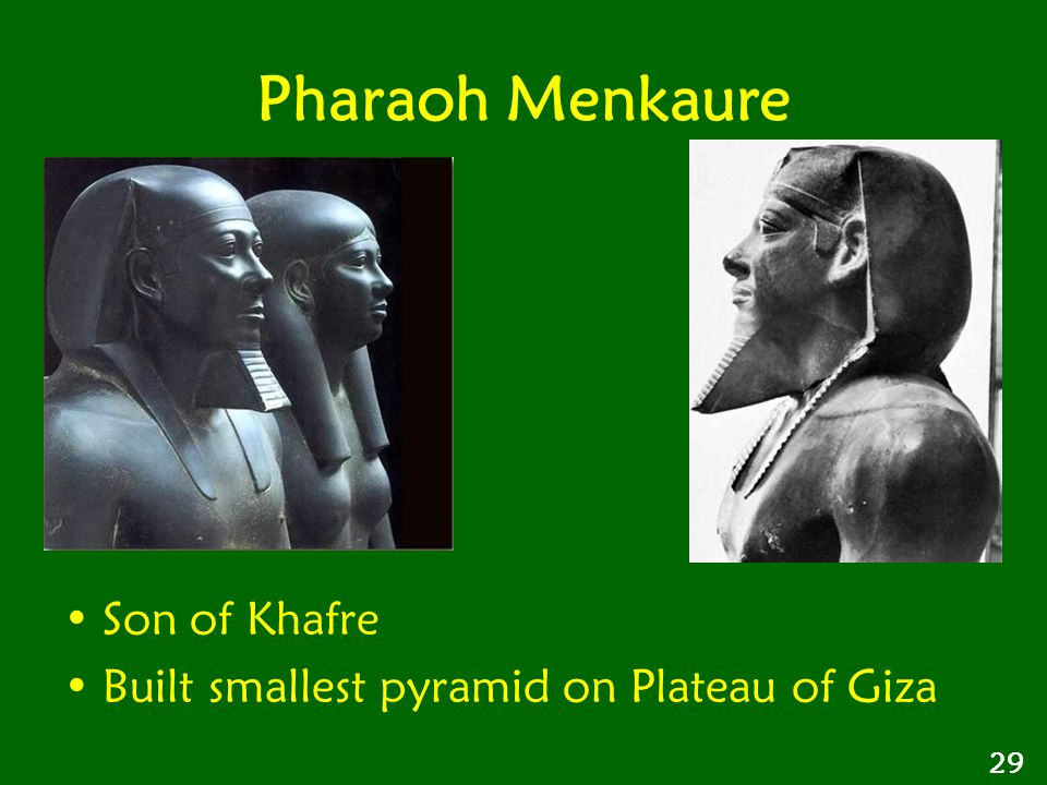 Pharaoh Menkaure Son of Khafre