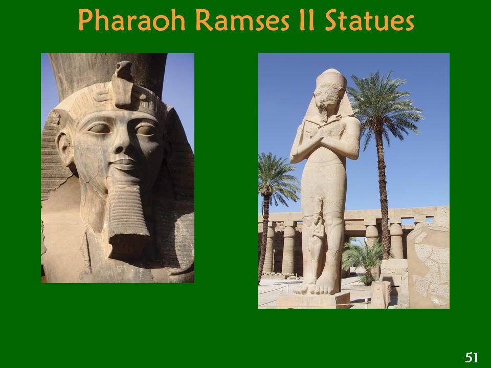 Pharaoh Ramses II Statues