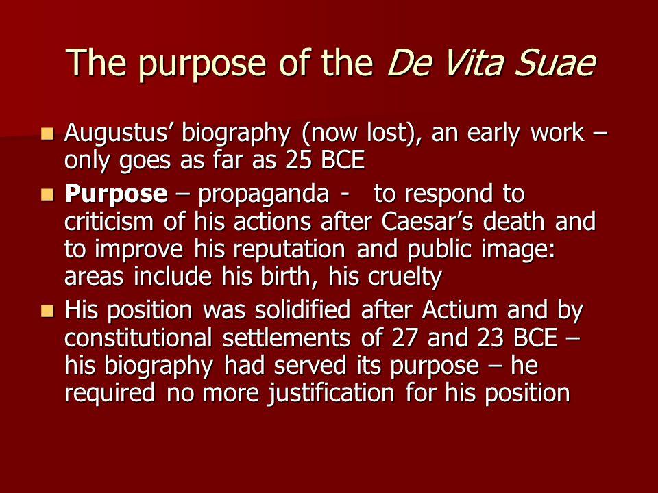 The purpose of the De Vita Suae
