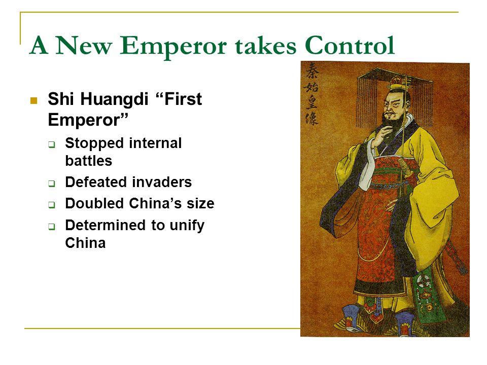 A New Emperor takes Control