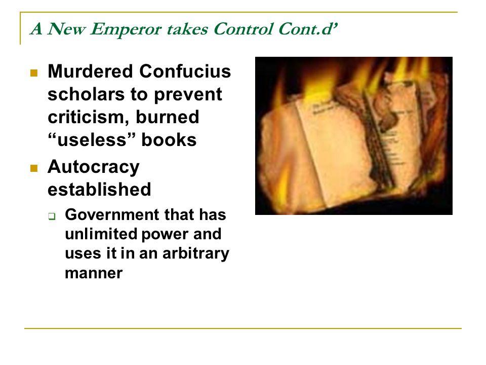 A New Emperor takes Control Cont.d'