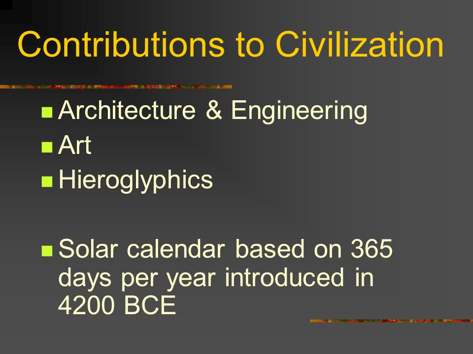 Contributions to Civilization