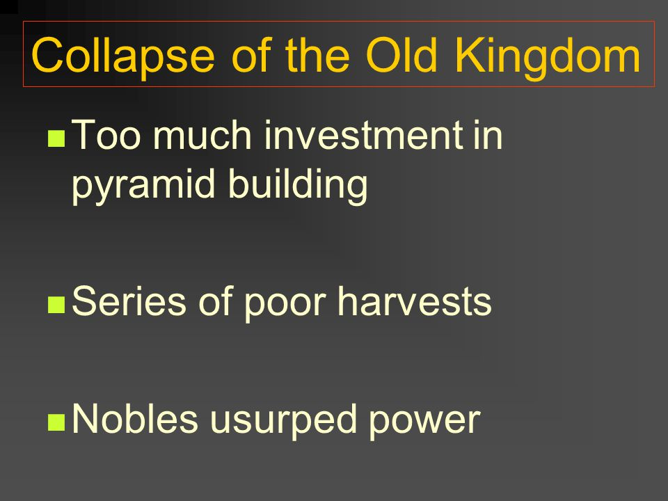 Collapse of the Old Kingdom