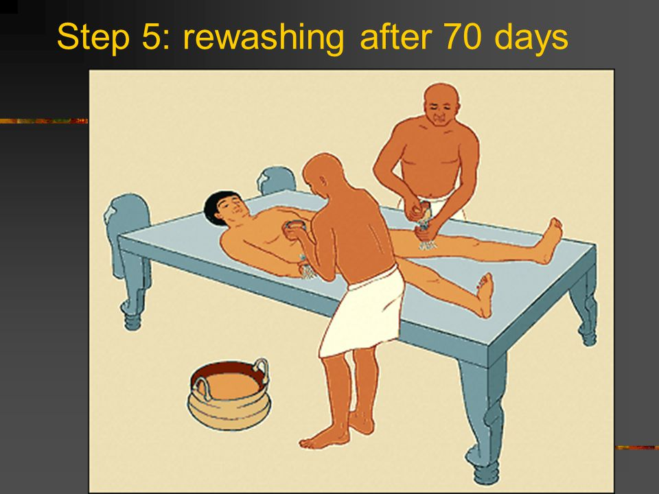 Step 5: rewashing after 70 days